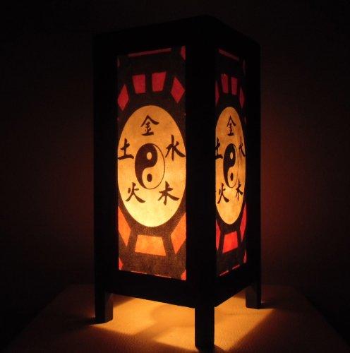 Seltene Asiatische Orientalisch Vintage Möbel Thai handgefertigt Buddha Stil Lampe Nachttische Yin Yang Zuhause Schlafzimmer Dekor Wohnkultur In Thailand