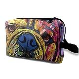 Bolsa de cosméticos de Viaje Color Art Bulldog, Bolsa de cosméticos Personalizada Personalizada Ligera y Conveniente