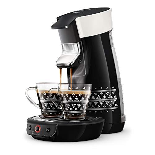 Philips HD6569/64 Kaffeemaschine für Kaffeepads Senseo Viva Café Ethnic Schwarz + 2 Tassen Ethnic