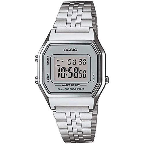 Casio Reloj Digital para Mujer de Automático con Correa en Acero Inoxidable...