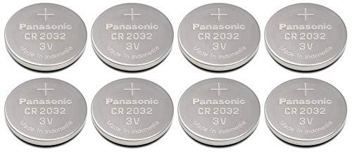 CR2032 de Batería para cámara fotográfica (, 8 adaptadores para) - Panasonic, de litio equivalente a juego de pilas de lote de pilas de, 3 V