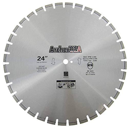 "Archer Pro 24"" Diamond Saw Blades for Fast Asphalt Cutting and Green Concrete Cutting"