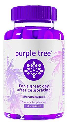 Purple Tree Celebration Vitamin Pills   Rapid Hydration, Liver Detox, Better Mornings   Dihydromyricetin DHM, Milk Thistle, Electrolytes, Vitamin B, Willow Bark (60 Pills)