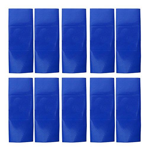 10 Blau Wasserdichte Klebstoff Patch Reparatur Band Leinwand Zelt Markise Swag