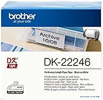 Brother DK-22246 kendinden yapışkanlı sonsuz etiketler (103 mm genişlik, 30,48 m uzunluk, QL-1050, QL-1050N, QL-1060N,...