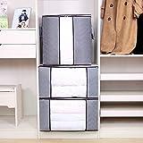 3 paquetes de bolsas de almacenamiento de ropa de gran capacidad, bolsas de almacenamiento de edredón con asas portátiles (60x35x40 cm)