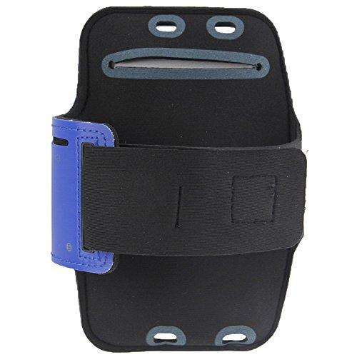 BANAZ Caja del Teléfono De La Caja del Brazal del Deporte del Auricular con El Agujero Y La Clave De Bolsillo For El iPhone 6 Plus St (Color : Dark Blue)