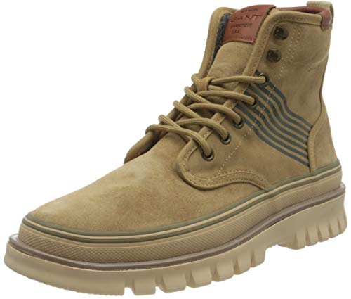GANT FOOTWEAR Herren NEBRADA Mode-Stiefel, dark beige, 44 EU