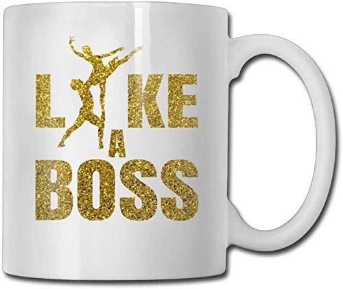 Glitter Golden Like A Boss Kaffeetassen 11 Unzen Weihnachtsgeschenk Keramik Teetasse Ein perfektes Geschenk für Ihre Familie und Freunde