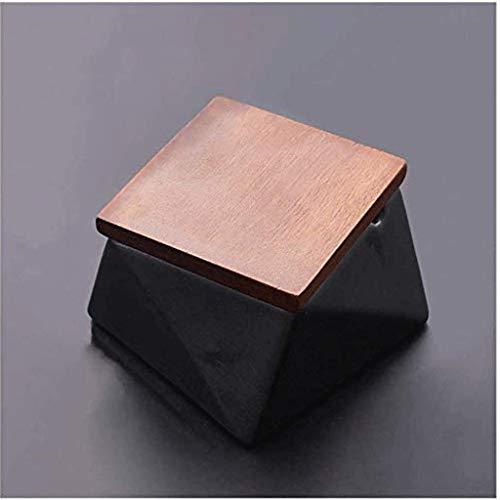 WCJ Asbak keramisch asbak met deksel, grijs, Scandinavische stijl herenhuis, woonkamer, gepersonaliseerde creatieve trend, slaapkamer, nachtkastje, vierkant diamant