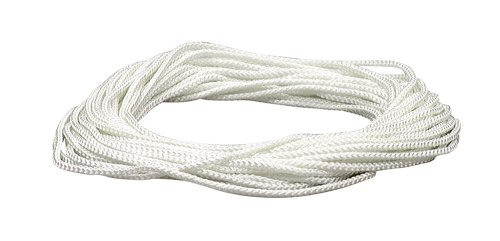 Lehigh NML48X 1/8-Inch by 48-Feet Diamond Braid Nylon Rope, White