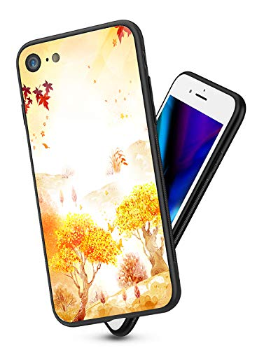 Suhctup Compatibile con iPhone 6 / iPhone 6s Custodia Protettiva in Vetro Temperato 9H + Cornice Paraurti in TPU Silicone Morbido Assorbimento degli Urti a 360 Gradi Protezione -Albero 2