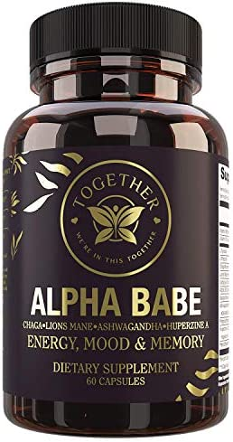 Alpha Babe Nootropic Supplement Memory Mood Energy Nootropics Lions Mane Chaga Ashwagandha product image