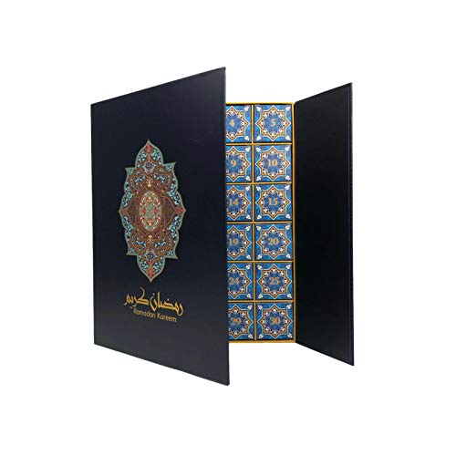 2021 Adventskalender Geschenkbox, Ramadan Kareem Blind Box Dekorative Schatzkiste Adventskalender Countdown Advent Tagebuch Tagebuch Geschenkbox, Kalender Blind Box Schublade Mit 30 Aufbewahrung