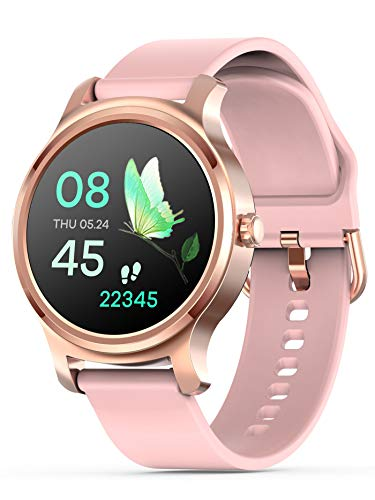 Smart Watch Touchscreen iOS Android Phones Bluetooth Call Music Heart Rate Monitor Sleep Monitor Blood Pressure Monitor Pedometer Calorie Counter Message Reminder Fitness Tracker for Women
