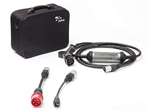 Juice Booster 2 Cargador Portátil Coches - 22kW, 32A, Trifasico, Monofásico, Tipo 2, emobility | Basic Set Incl. Adaptador CEE32 y Schuko 7/7 (EU)