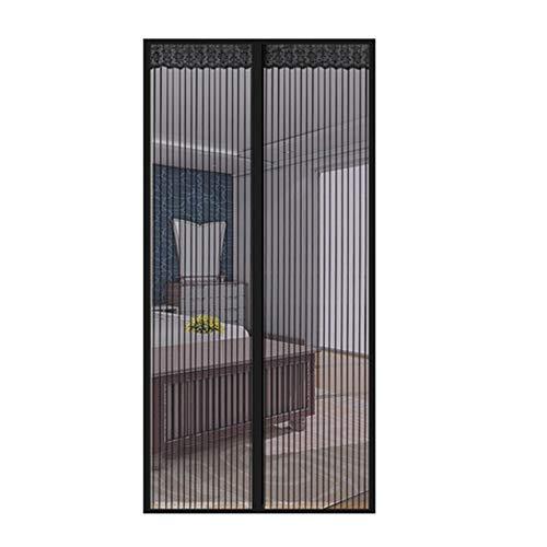 FOOX Magnetic Screen Door, Loop Fastener Embroidery Anti-Mosquito Magnetic Soft Net Window Curtain Magnetic Screen Make Far Away Living Room Door Screen,56x80in/140x200CM