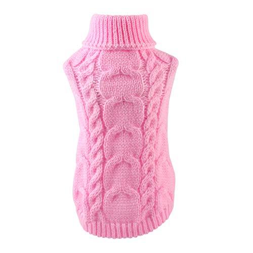 iFCOW Hond Trui Vest Breien Coat, Huisdier Hond Breien Trui Puppy Kleding Winter Zachte Warme Trui Knitwear