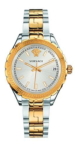 Versace Damen Analog Quarz Uhr mit Edelstahl Armband V12030015