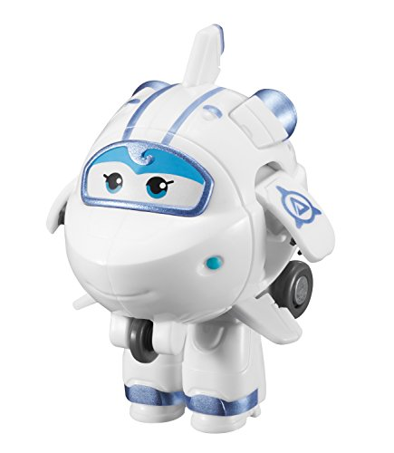 Super Wings Super Wings-EU720024 Auldeytoys EU720024 Astra a-BOT Spielzeugfigur Transformer Mini, White, Color
