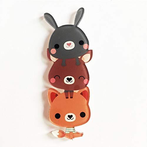 JTXZD Brosche 1 Stücke Schöne Harajuku Stapeltier Pikachu Kaninchen Acryl Brosche Kleidung Abzeichen Rucksack Symbol Broschen Pins Für Kinder
