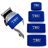 TRU BARBER Clipper Grip Bands 4 PCS, Clipper grips for Barbers, Clipper sleeve for barber tools, Non slip, Heat resistant (Blue)