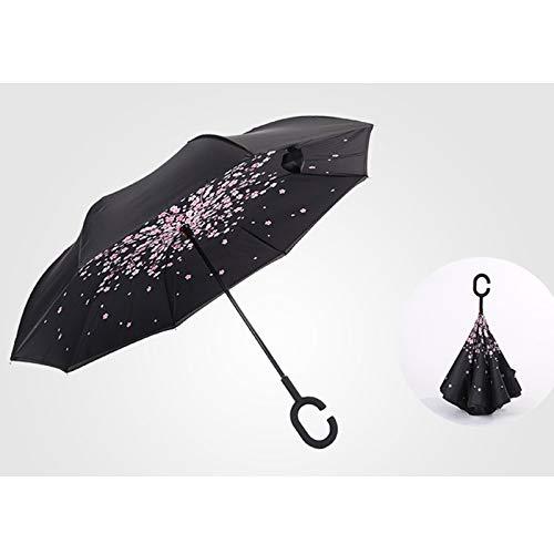 NHP Handfreier Regenschirm in C-Form, stehender Klappschirm