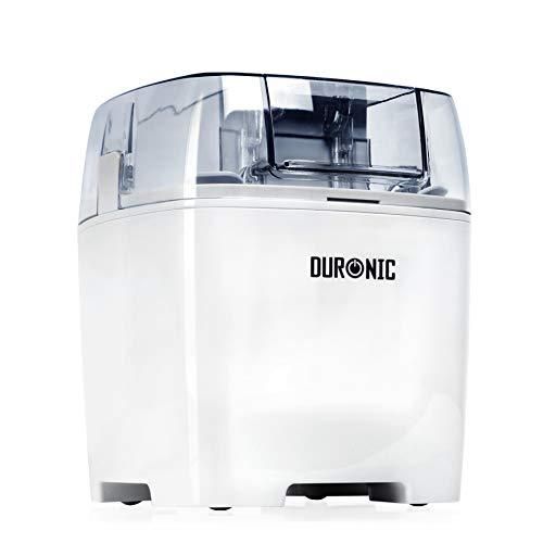 Duronic IM540 Heladera de 1.5L para hacer helados, sorbete y yogur helado caseros en 15-30 minutos - Incluye pala y accesorios