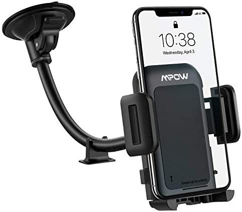Car Phone Mount Mpow Long Arm Windshield Phone Holder Washable Suction Cup Car Mount Compatible product image