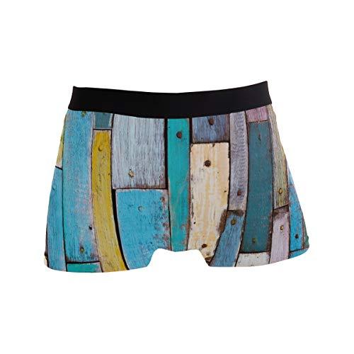 BONIPE Herren Boxershorts aus Holz, Stretch, atmungsaktiv, niedrige Höhe, Größe S Gr. L, Mehrfarbig