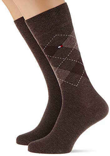 Tommy Hilfiger Herren Socken (2er Pack), Oak, 43-46
