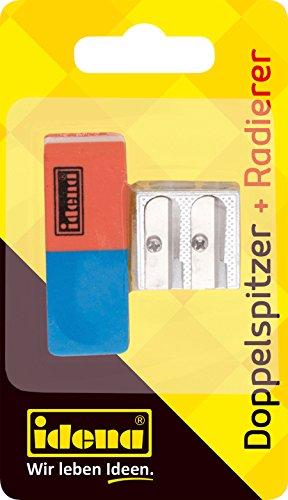 Idena 522073 - Radierer und Doppelanspitzer, 2- teilig, 1 Set