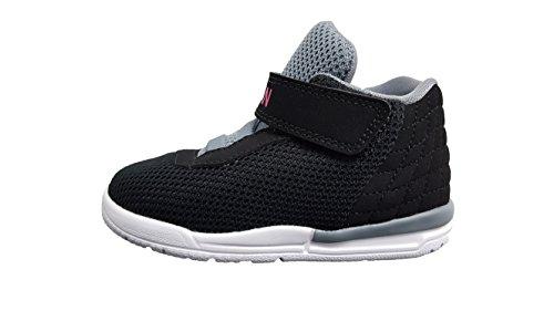 Nike 854293-007, Scarpe da Basket Unisex-Bambini, Nero/Rosa/Grigio/Bianco (Black Vivid Pink Cool Grey White), 17 EU