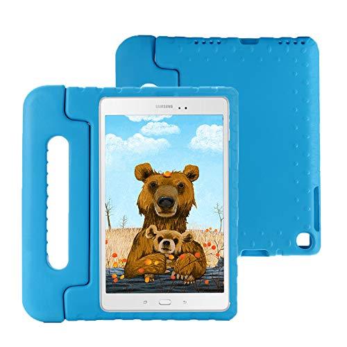 Hülle mit Kickstand für Galaxy Tab A T510 / T515, Ultra Leicht Stoßfest Robust Kind Schutzhülle Umwandelbar Handgriff Handle Standfunktion , Schutzhülle für Samsung Tab A 10.1 2019 (Blau)(Blau)