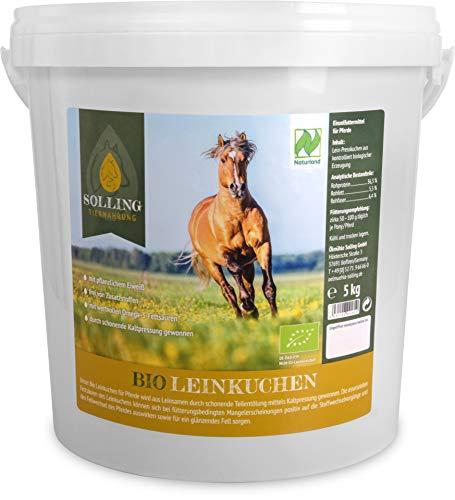 Solling Tiernahrung Leinkuchen Pellets - Granulat/Bio - Naturland Qualität - 100% naturrein 5kg