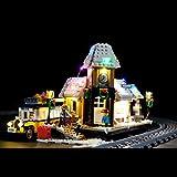 POXL 10259 - Set di luci a LED a batteria, per stazione di villaggio invernale Lego Creator Expert, modello non incluso