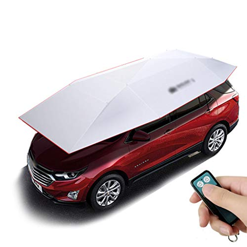 GXFC Automatisch Auto Sonnenschirm, Tragbare Autoabdeckung UV-Schutz Wasserdicht, Hagelschutzschild, Elektrisches Dachzelt, Universal Automobile Abdeckplane Autoplane, 480 cm