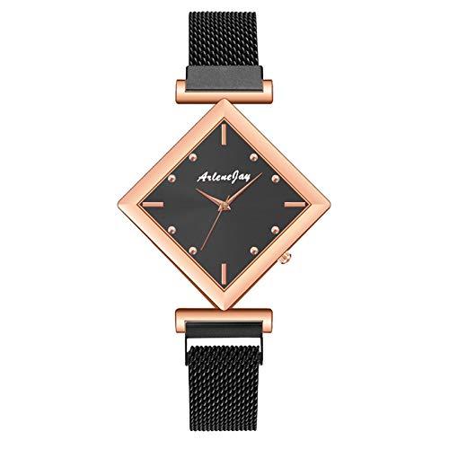 JZDH Relojes para Mujer Relojes Simples de Mujeres de Acero Inoxidable Malla de Cuarzo Reloj de Pulsera Reloj Reloj de Moda Reloj Relojes Decorativos Casuales para Niñas Damas (Color : 1pcs)