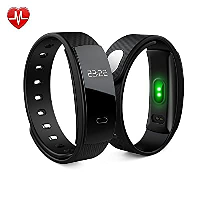 Smart Bracelet Fitness Activity Tracker - Heart Rate Monitor Pedometer Sleep Wireless Bluetooth Monitor Notification Alerts Waterproof Wristband - Touch Wristband Watch For Android IOS