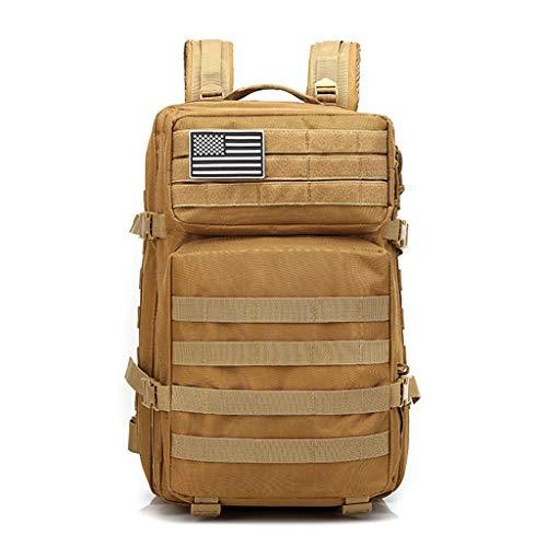 Cansenty Militär-Rucksack, 42 l, großer Sturmrucksack, 3 Tage Armee-Rucksack, Molle Bug Outdoor, Wandern, Tagesrucksack, Jagd, Rucksäcke khaki