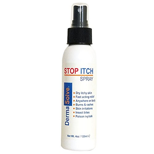 Stop Itch Spray by DermaSolve | Made with 100% Organic Neem Oil for Scalp and Body Itch Including Psoriasis Relief, Dry Skin, Skin Maladies, Insect Bites, Sunburn, Burns and Rashes