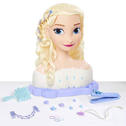 Disney Princesses-La Reine des Neiges 2-Elsa, Tête à Coiffer Deluxe, 18 Accessoires de Coiffure Inclus, Jouet pour Enfants dès 3 Ans, FRND6