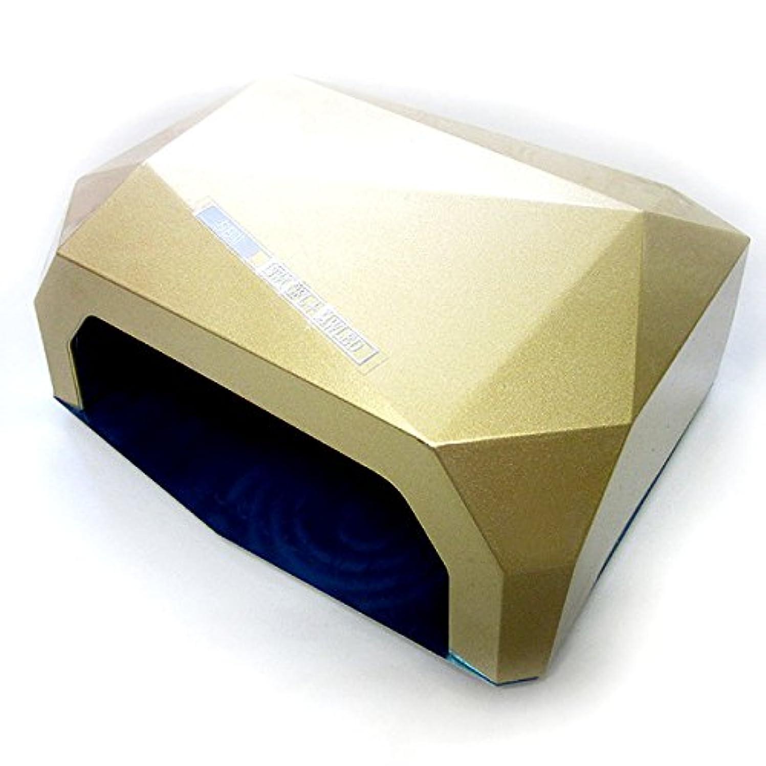 ボイド人生を作るキャビン【アウトレット品】 fairylace スーパー UVライト36W FL12W+LED24W ジェルネイル UVレジンクラフト用 本体カラー:ゴールド