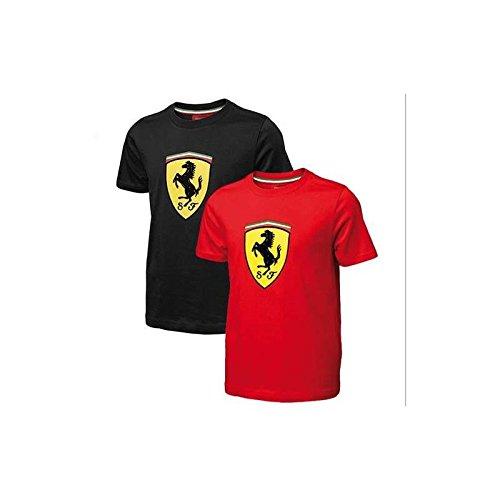 Ferrari Maglietta Bambino Scudo Nero Taglia 14 Anni