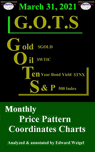 March 31, 2021: G.O.T.S : Gold ($GOLD), Oil ($WTIC), 10-Year Treasury Bond ($TNX) and the S&P 500 Index ($SPX) Monthly Price Pattern Coordinates Charts (English Edition)
