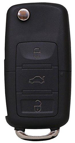 Liamgate Ersatz Schlüsselgehäuse-mit-Rohling geeignet für VW-Schlüssel-mit-3-Tasten