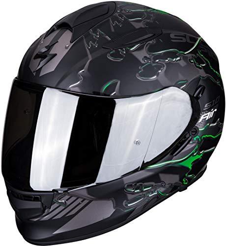 Scorpion Motorradhelm EXO-510 AIR LIKID Matt Black-Green, Schwarz/Grun, M