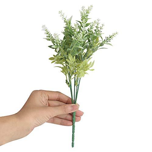 OSYARD Wohnaccessoires & Deko Kunstblumen,15 Köpfe Künstliche Blumen Lavender Fake Blumen Braut Blumen-Bouquet Hochzeit Party Garten Wohn Dekor DIY Blumenschmuck Gefälschte Blumen - 30cm Höhe