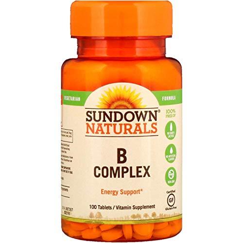 Sundown Naturals Vitamin B Complex, 100 Tablets each (Value Pack of 2)