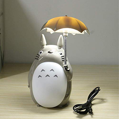 Kawaii Cartoon mi Vecino Totoro Paraguas lámpara LED luz de la Noche USB Lectura Mesa lámparas de Escritorio para niños Regalo Home Decor Novedad,B